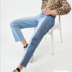 PacSun Two Panel High Waisted Straight Leg Jeans